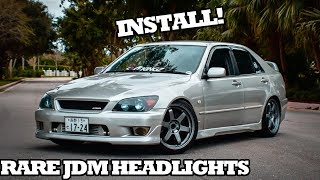 RARE JDM Blue Tint Altezza Headlights Install!