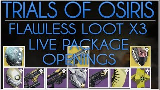 Destiny Trials of Osiris Flawless Loot X3. Lighthouse Rewards & LIVE Package Openings.