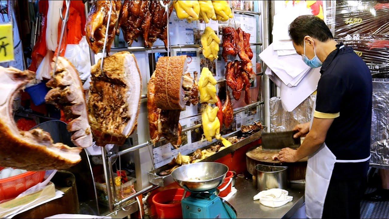 Hong Kong Rice Boxes with Roasted Pork & Chicken SO YUMMY 香港燒味 此食店每天都賣幾百盒燒味飯 因為價廉物美 旺記燒臘專家 西貢