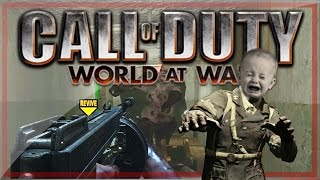 call of duty waw custom zombies funny moments fat baby awes0mepieman and epic ending