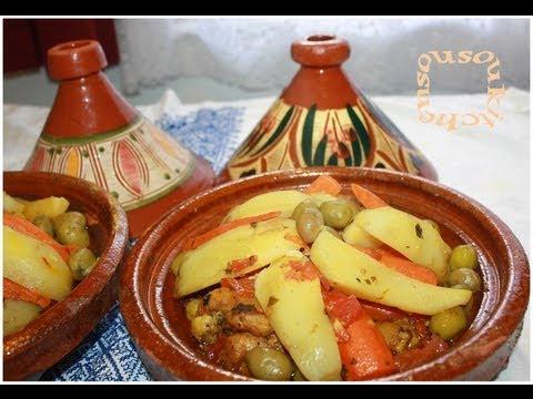 Tajine Poulet Et Legumes/طاجين الدجاج والخضر Chicken Tagine And Veggies