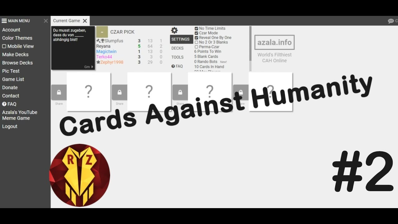 Mehr Spieler mehr HASS | Cards Against Humanity | #2 | Reyphyr