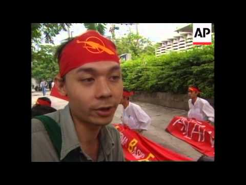 THAILAND: BURMESE STUDENTS PROTEST BURMA'S ADMISSION INTO ASEAN