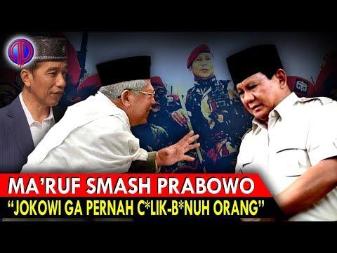 Gerindra Gusarr! Ma'ruf Amin Puji Jokowi Ga Pernah C*lik dan B*nuh Orang