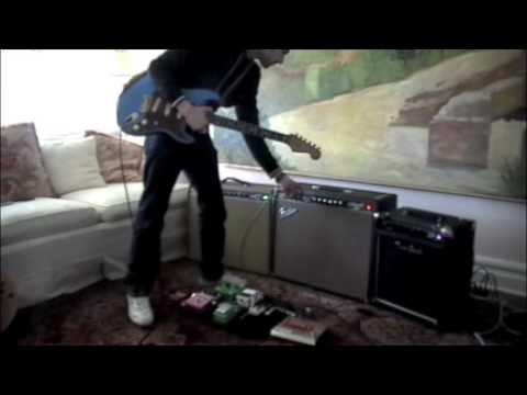 Two Rock, Fender 64 Vibroverb, and Headstrong Vibroverb side by side