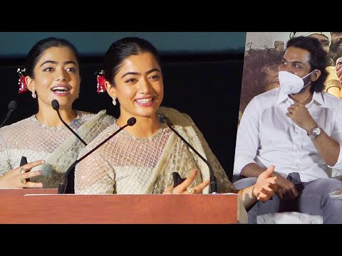 Rashmika Mandanna Cute Speech at Sulthan Movie Trailer Launch Event   Sulthan Pre Release Event