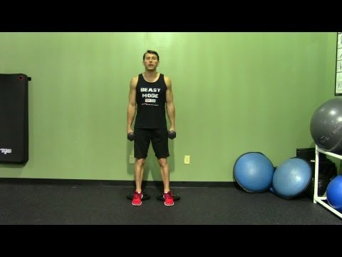 Dumbbell Hack Squat With Elevated Heels - HASfit Squat Exercise Demonstration - DB Hack Squat