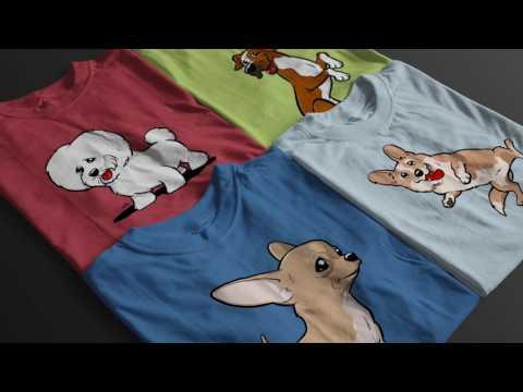 Funny dog clothes   Crazy shirts printed with dog cartoon
