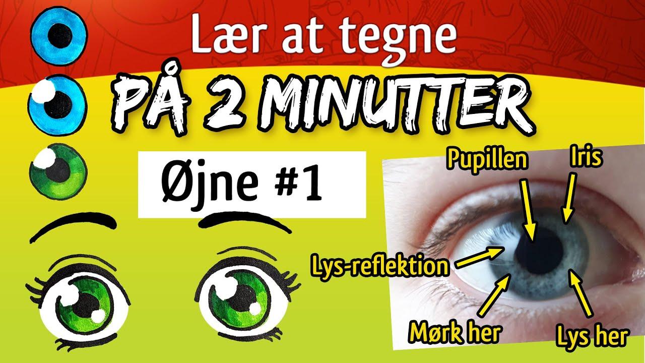 Lær at tegne på 2 minutter – øjne #1