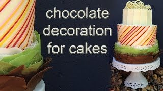 Chocolate Cake Decoration How To Cook That Ann Reardon Chocolate Cuff Frill
