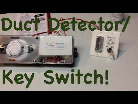 What Is A Duct Detector Duct Detector Key Switch Youtube