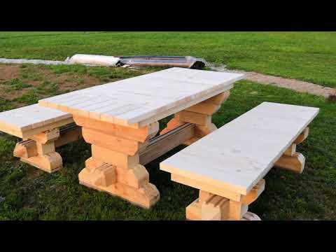 Столы и скамейки из дерева фото своими руками