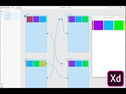 Make Carousel Adobe XD Auto Animate - Drag