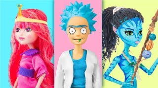 Cartoon Characters Doll Version / 6 Clever Barbie Hacks And Crafts