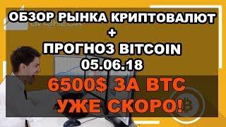 🔥Криптовалюта: обзор рынка на сегодня (неделю) + новости + прогноз (Bitcoin) BTC/USD 05.06.2018