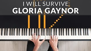 Download lagu Gloria Gaynor - I Will Survive | Tutorial of my Piano Cover + Sheet Music