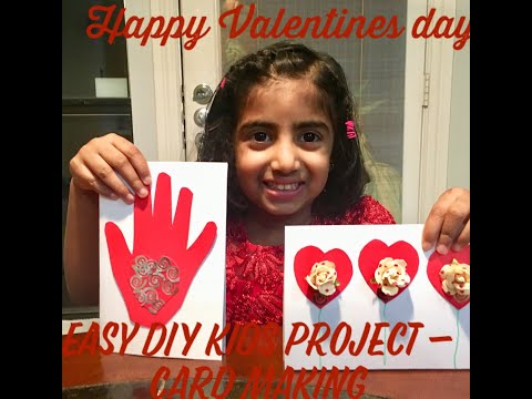 How to make an easy Valentines day card - Kids DIY project