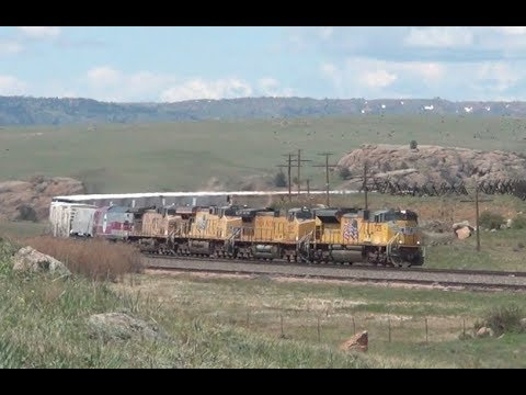 UP Transcon West of Cheyenne - June 2014