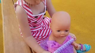 Кукла Катя и Эльвира НА СУПЕР ПЛОЩАДКЕ ИГРЫ ДЛЯ ДЕВОЧЕК Куклы на ПИКНИКЕ. КУКЛЫ ВИДЕО ПРО БЕБИ БОРН