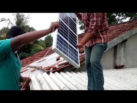 Solar home light installation (off grid)