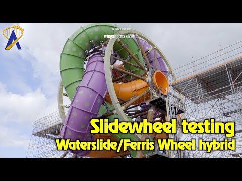 Slidewheel Testing & Construction Time-Lapse: Waterslide/Ferris Wheel Hybrid