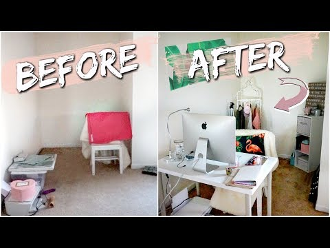 $25 OFFICE MAKEOVER | creating my dream space on a budget