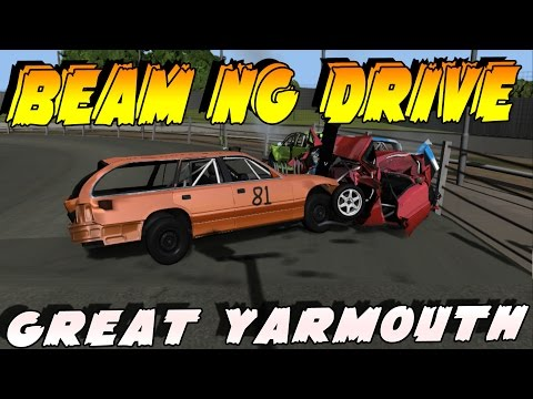 |BeamNg| Great Yarmouth Stadium and jackin trains!