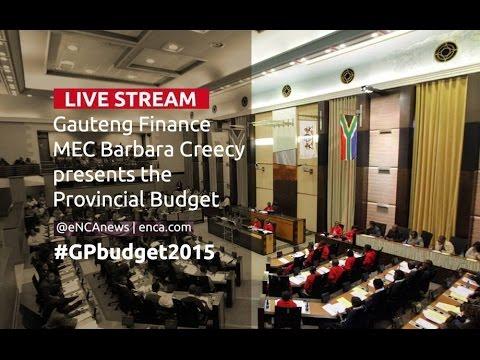 LIVE: Gauteng Provincial budget speech