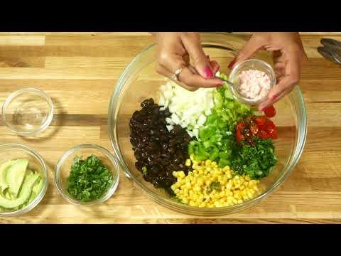 Black Bean Salad Recipe | Priyanka Uppal