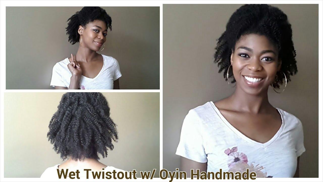 4c natural hair - wet twistout