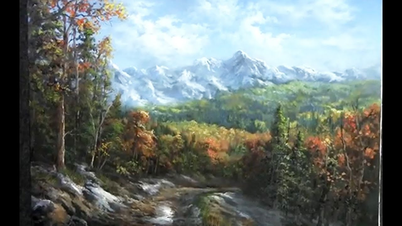 How To Paint Autumn Mountains Acrylic