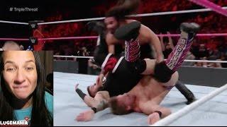 WWE Raw 10/24/16 Triple Threat KO Jericho Rollins