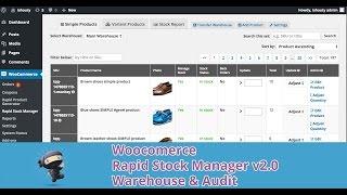 Woocommerce Rapid Stock Manager v2.0 - Warehouse & Audit