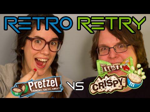 M&M's: PRETZEL Vs. CRISPY - RETRO RETRY