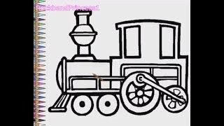 Train Coloring Pages - Train Drawing For Kids
