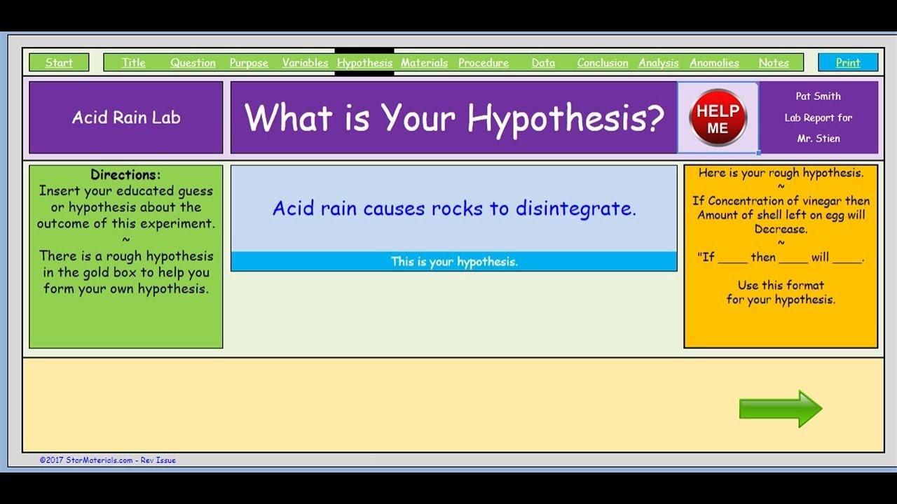 Lab Report Gen Help 06 Hypothesis