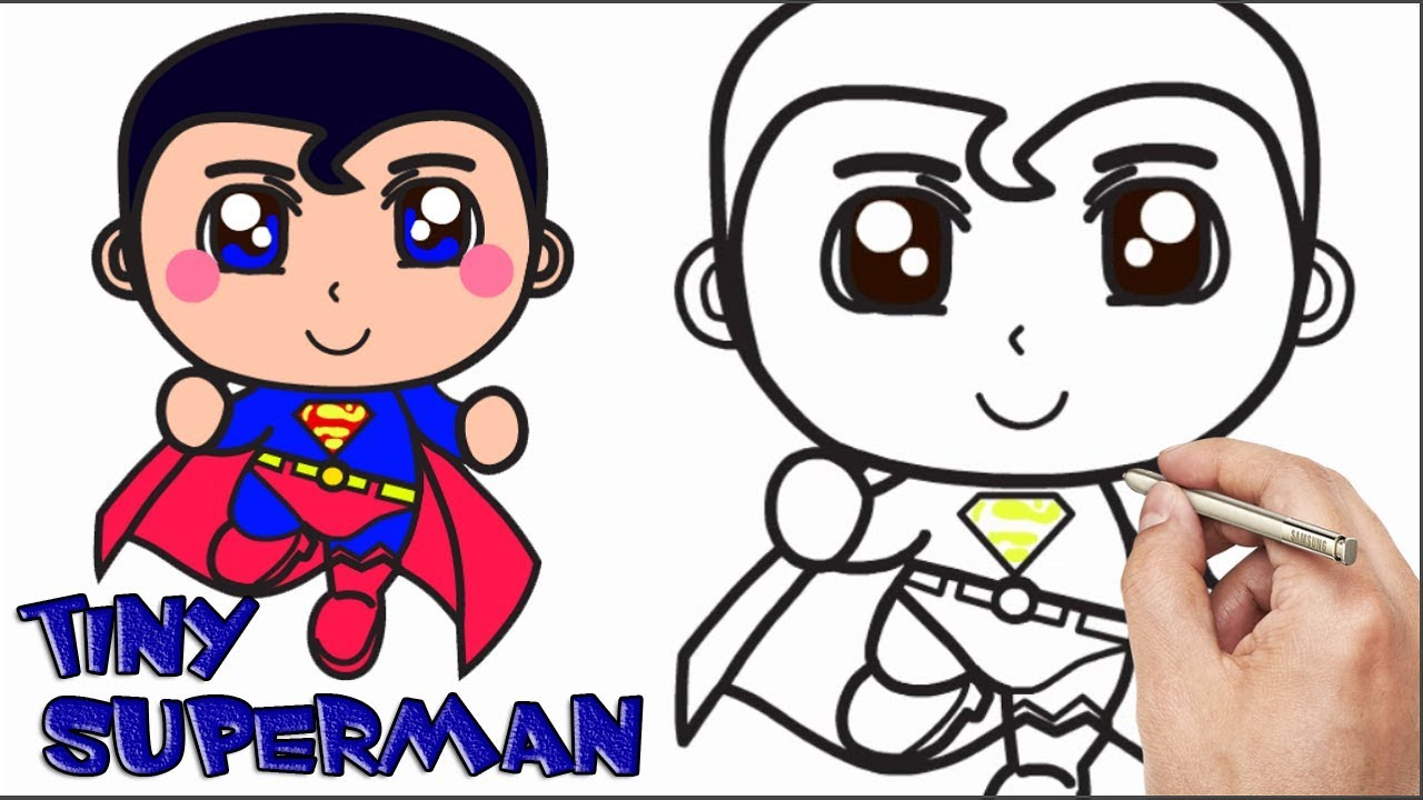 Baby Superman Coloring Pages. Learn To Draw A Tiny Superman  Drawing Pages for Kids Coloring Book Baby Toy