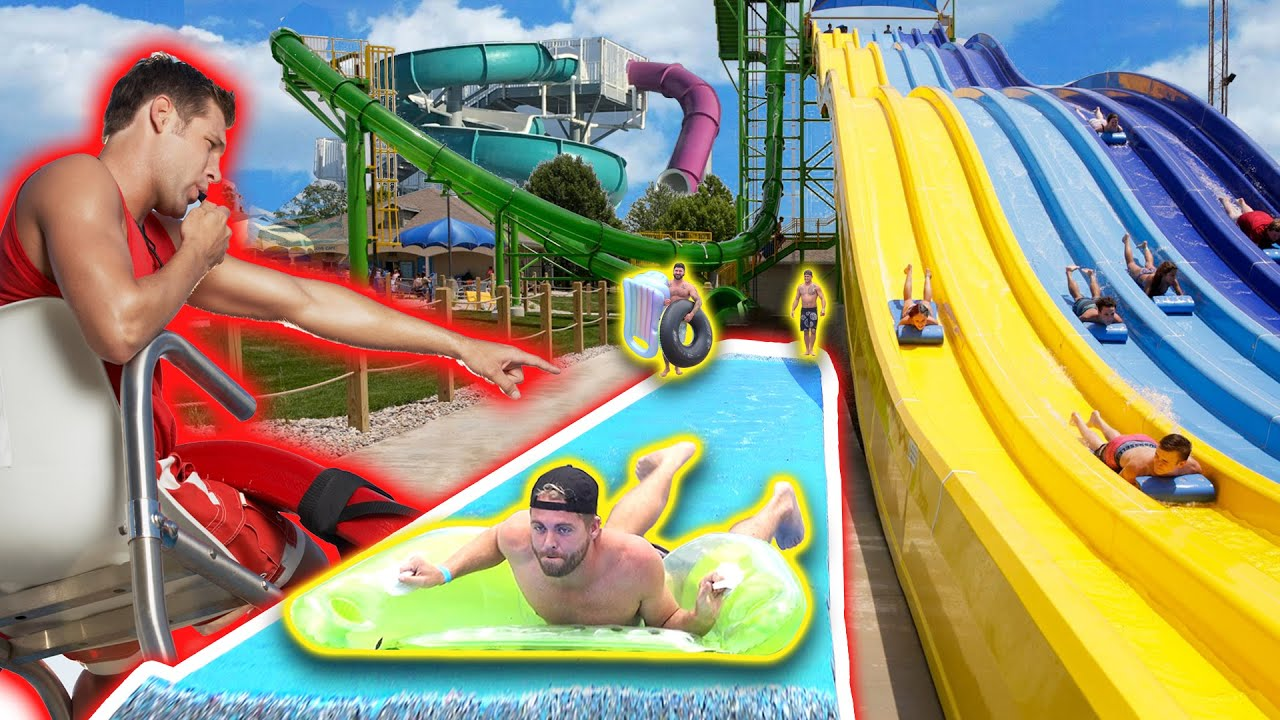 Bringing Our Own Slip 'N Slide to a Water Park!