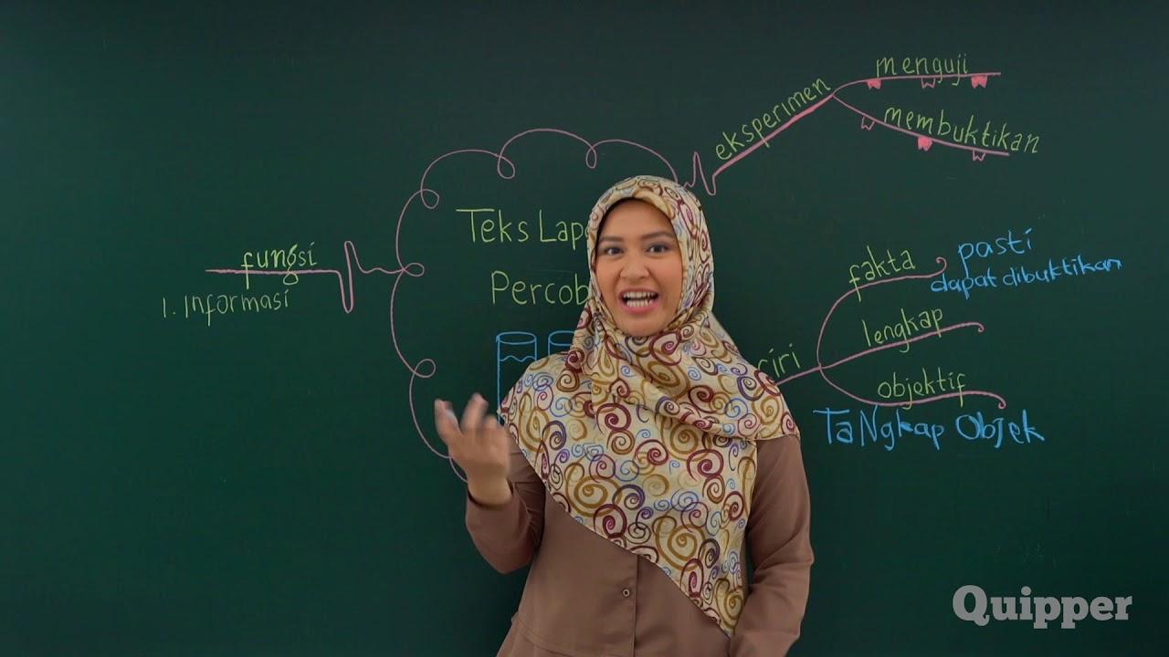 Pengertian Dan Fungsi Teks Laporan Percobaan Quipper Video Bahasa Indonesia Kelas 9 Youtube