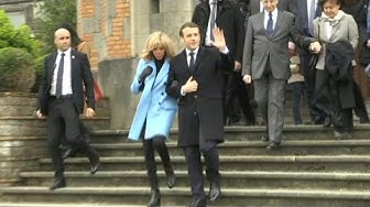 Emmanuel and Brigitte Macron vote in French local elections (2) | AFP