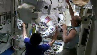 NASA astronauts complete space walk