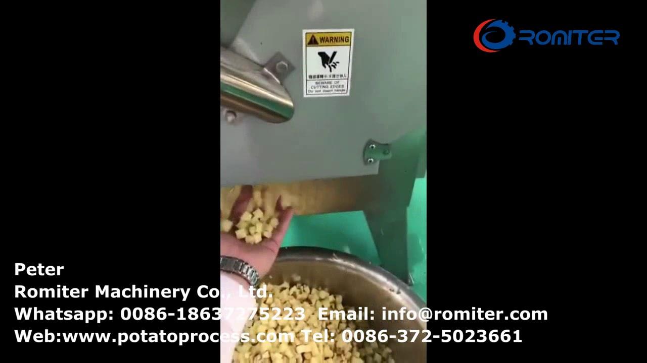 Multi-Functional Potato Cutting Machine for Cube Shape