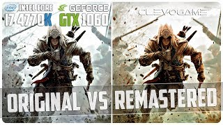 Assassin's Creed 3 - PC - Original vs Remastered Comparison - GTX 1060 6GB - i7 4770K - 4K