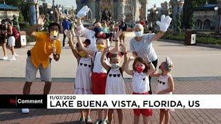 """شاهد: """"المملكة السحرية"""" تعيد فتح أبوابها أمام الزوار في فلوريدا الأميركية …"""