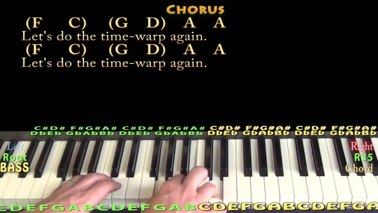 Time warp rocky horror piano cover lesson with lyricschords time warp rocky horror piano cover lesson with lyricschords hexwebz Gallery