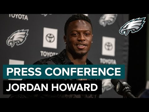 Jordan Howard 'Excited' To Join Eagles Offense   Eagles Press Conference