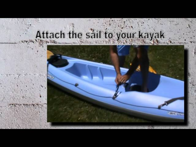 Instructions for installation of a sail on a Bicsport kayak