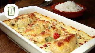 Mozzarella - Hähnchen in Basilikum - Sahnesauce Rezept #chefkoch