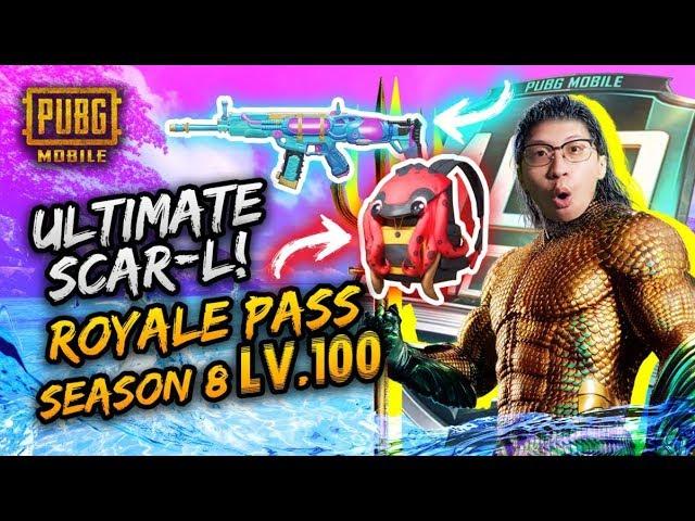 SCAR L ULTIMATE!! ROYALE PASS SEASON 8 LV 100! - PUBG Mobile Indonesia
