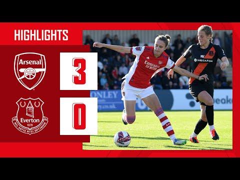 HIGHLIGHTS |  Arsenal vs Everton (3-0) |  WSL |  McCabe, Wubben-Moy, Maanum